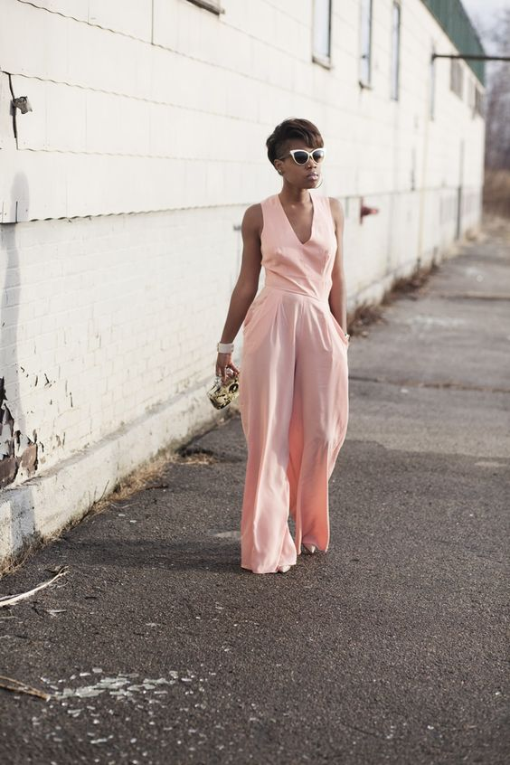 Womens Pink Jumpsuit | Fashion Ql