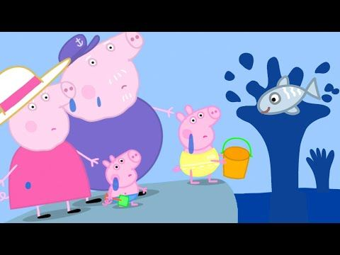 Peppa Pig Official Channel Peppa Pig And The Big Fish Youtube Peppa Pig Songs Peppa Pig Toys Peppa Pig Christmas