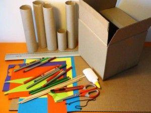 Créez un super château fort à partir d'objets à recycle ! Découvrez tous les autres ateliers C-MonEtiquette.