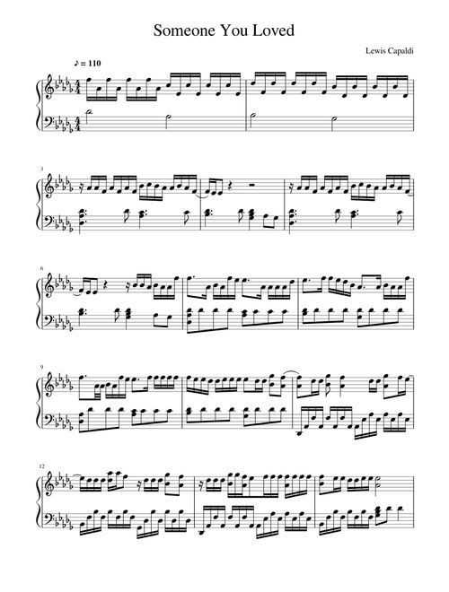 Someone You Loved Sheet Music For Piano Download Free In Pdf Or Midi Piano Sheet Music Letters Piano Sheet Music Free Clarinet Sheet Music