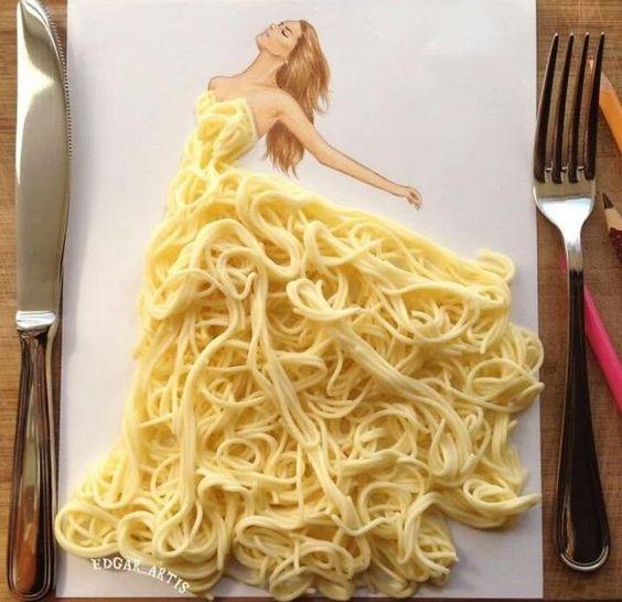 Incríveis desenhos de vestidos feitos de objetos