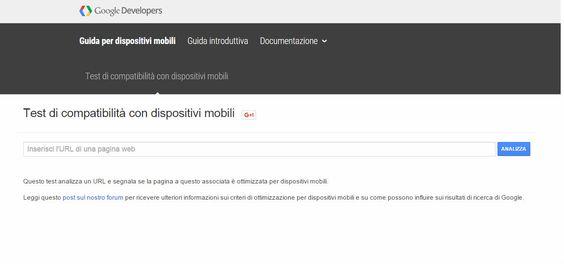 Un tool per verificare la compatibilità del vostro sito web con i dispositivi mobili