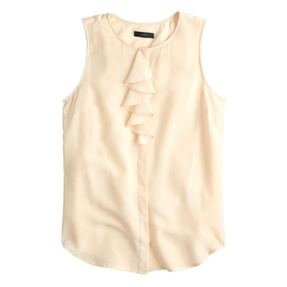 Silk ruffle blouse - Shades of grey (and other neutrals we like). J.Crew