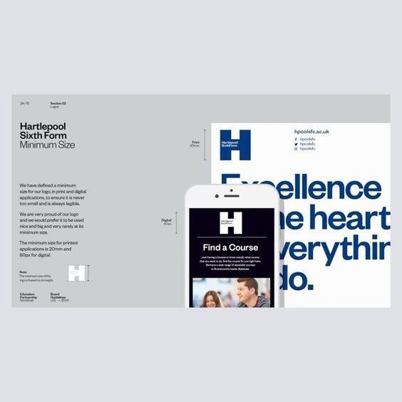 Thebrandingcollective On Instagram Brand Identity Design Brand Guidelines For Sunderland College Have A Question Dm Us Follow Thebrandingc