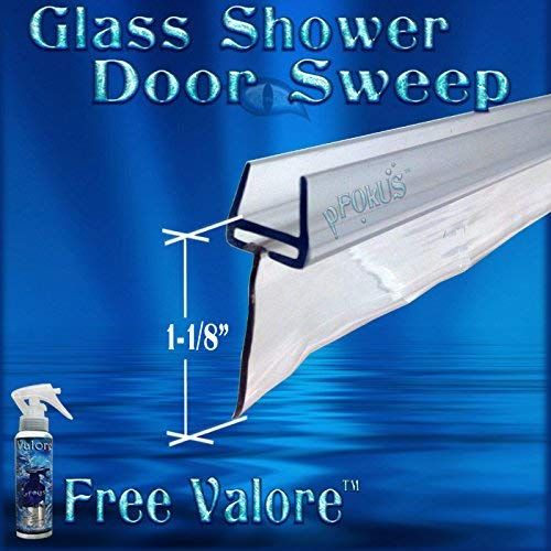 Ds9371 1 3 8 Glass Shower Door Sweep 32 Long To Fill Large Gaps Under The Shower Glass Door Review Shower Doors Door Sweep Glass Shower Doors