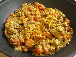 Gemüse-Tofu-Pfanne mit Hirse