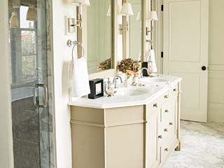 from myhomeideas.com -- love the elegance, but not the pictures above the mirrors; otherwise it's perfect