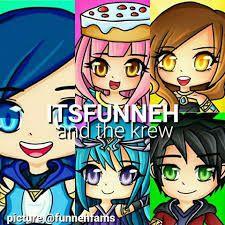 Funneh Draco Gold Lunar And Rainbow Krew Aphmau Fan Art Fan Art Drawing Cute Drawings
