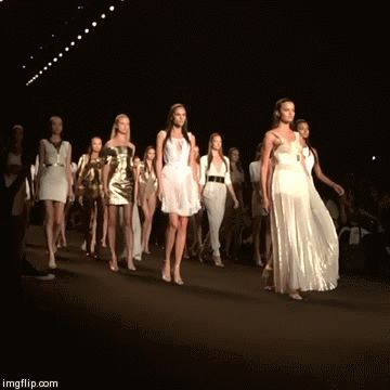 Gold and Glam: The @OfficialMeskita models end the show with attitude #MBFW #NYFW https://vine.co/MBFashionWeek #nyfw newyorkfashionweek fashion trend 2015 style