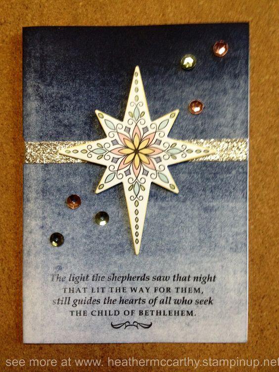 Stampin' Up! Star of light stamp set, Starlight thinlits