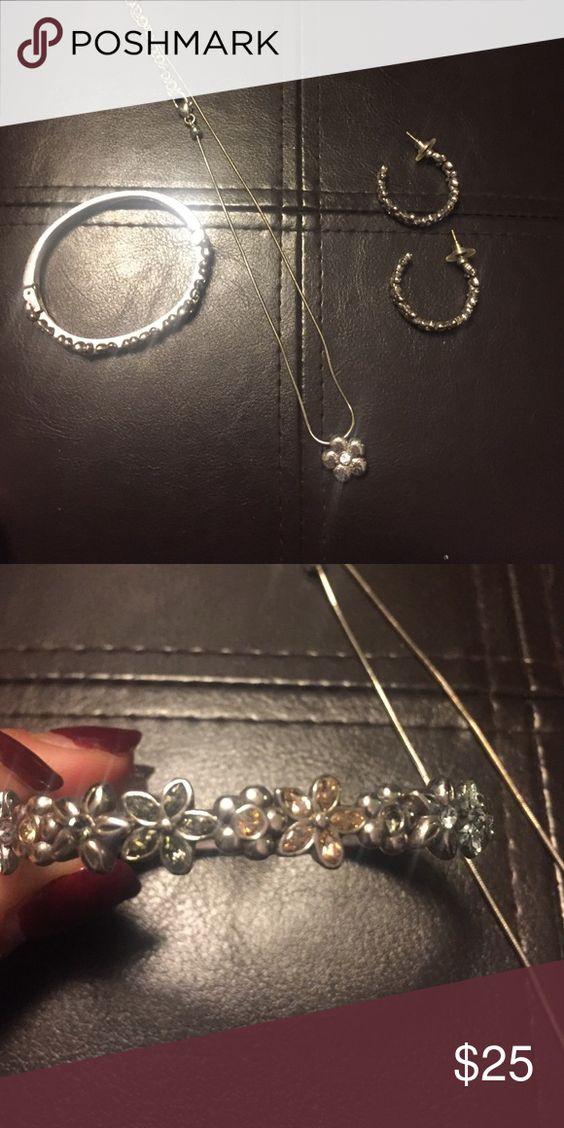 Brighton jewelry set Has yellowish accent stones Brighton Jewelry