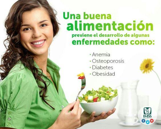 Previene enfermedades con una buena alimentación.