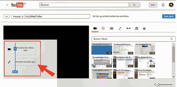 Edición básica de video desde Youtube