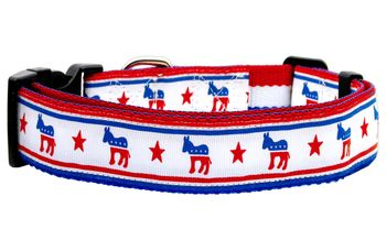 MiragePet Political Nylon Democrat Pet Dog Training Collar Large