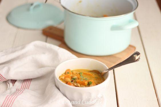 Schnelles und sehr leckeres indisch inspiriertes Curry mit Kokosmilch. Vegan und Gesund