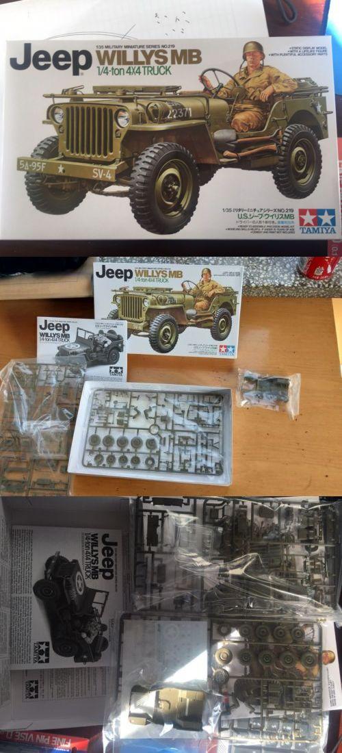 Land 2589 Tamiya 35219 1 35 Military Model Kit Us Army Jeep