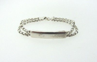 "DAVID YURMAN ID NAME TAG DOUBLE BOX CHAIN STERLING SILVER 6.25"" BRACELET - http://designerjewelrygalleria.com/david-yurman/david-yurman-id-name-tag-double-box-chain-sterling-silver-6-25-bracelet/"