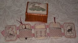 Lounging Hare Sewing Box Sherri Jones of Patrick's Woods Orange Coast Sampler Guild:
