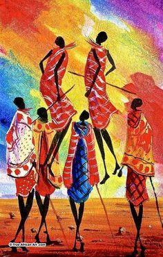 Maasai Art Paintings African art art painting