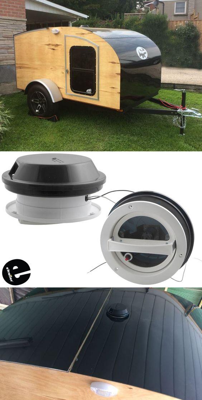 Ventline Vanair Trailer Roof Vent W 12v Fan 6 1 4 Diameter Smoke Ventline Rv Vents And Fans Vp Teardrop Camper Plans Trailer Teardrop Camper