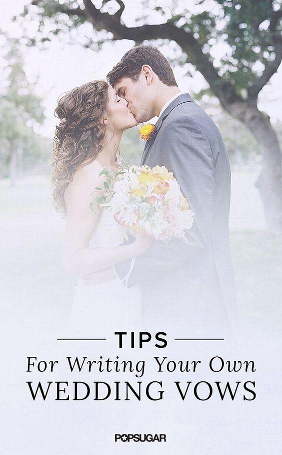 Vows Wedding Vows And Diy Wedding On Pinterest