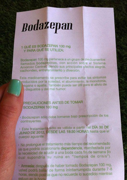 ideas para #invitaciones de #bodas  Original invitación de bodas: Bodazepan {Diseño y foto, Mente de Menta}