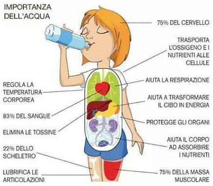 Importanza del bere acqua