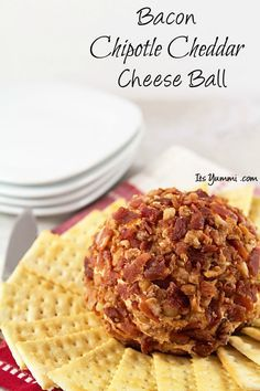 Bacon Chipotle Cheddar Cheese Ball--just a few ingredients and 10 minutes to make this!
