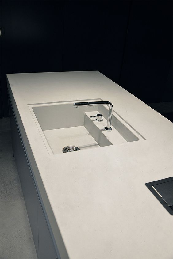 Betonowy Blat Kuchenny Beton Concrete Top Bathroom Flat Interior Modern Kitchen