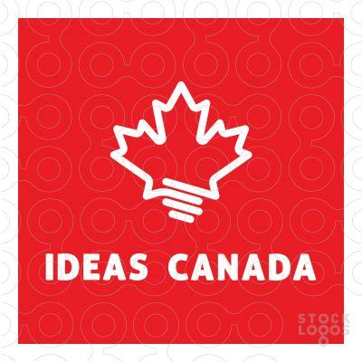 light logo, canada logo, maple logo, idea logo, bulb logo, thinking logo, ideas logo, stocklogos, stocklogo, electric logo, electricity logo, power logo, energy logo, creative logo
