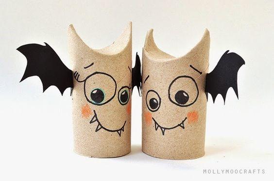Halloween: Riciclo e lavoretto creativo per bambini con i rotoli della carta igienica
