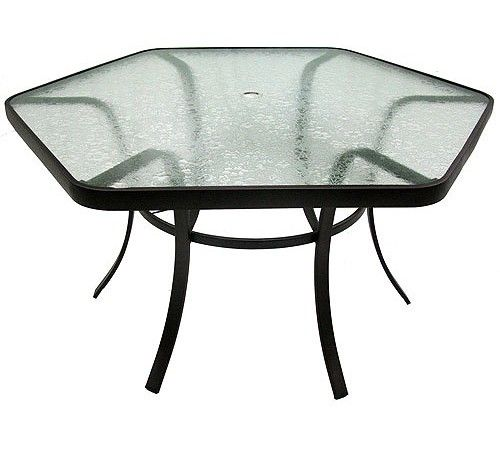 Exceptional Hexagon Glass Patio Table | Ideas For The House | Pinterest | Patio Tables, Patio  Table And Patio