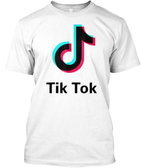 Tik Tok T Shirt White T Shirt Front Printed Shirts Tik Tok Shirts