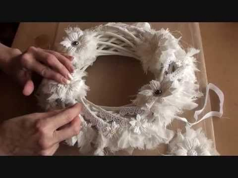 Wild Orchid Crafts - Shabby Christmas Wreath Tutorial I love love this stuff!!!