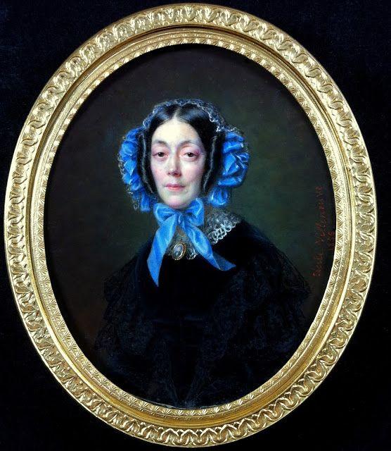 Portrait Miniature - Une Collection Francaise, A French Collection - VILLENEUVE Cécile (1824-1901), portrait de Madame Courson de Villeneuve, 1856: