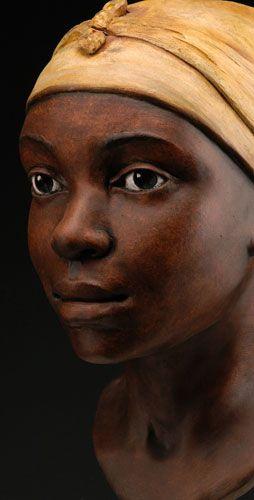 ceramic portrait busts by Kim Graham