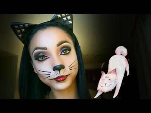 Maquillaje Gata Maquillaje De Halloween Gatita Cat Makeup Eyeliner