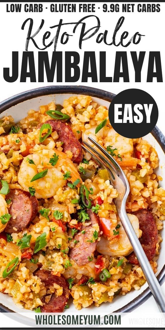 Low Carb Keto Jambalaya Recipe