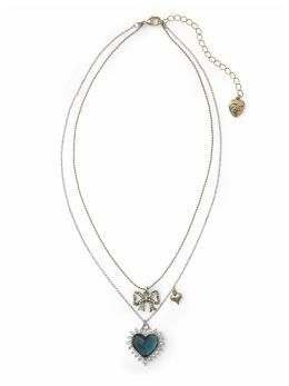 Jewelry | Heart + Bow Necklace