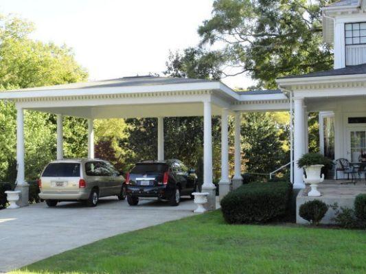 Farmhouse With Attached Carport Carport Designs Carport Carport Patio