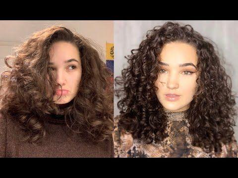 Haar Routine Fur Definierte Locken Youtube Haarspitzen Locken Machen Krauses Welliges Haar