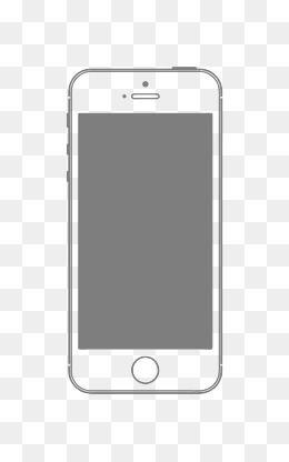Iphone Vector Png : iphone, vector, Vector, Iphone, Mobile, Phone, Frame, Material, Phone,