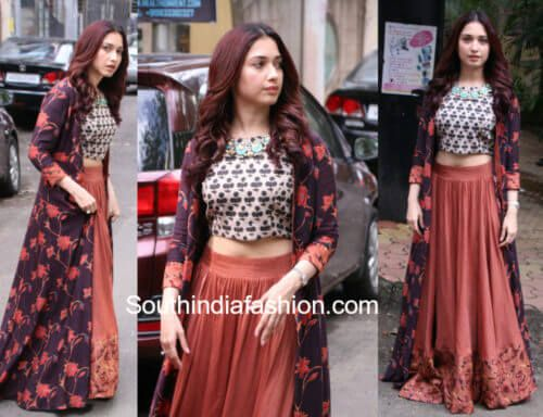 Long Skirt Hairstyle By Tamannaah Long Skirt Skirts Evening Hairstyles
