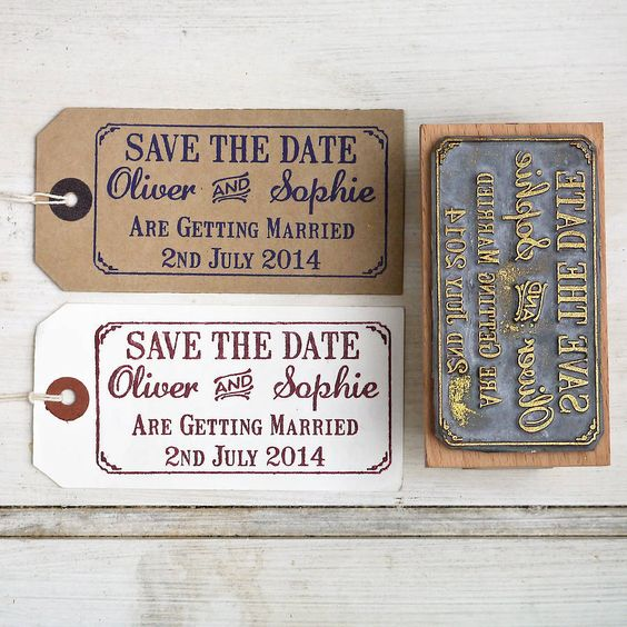 save the date rubber stamp with border by english stamp | notonthehighstreet.com  An inexpensive way of sending a save the date card .
