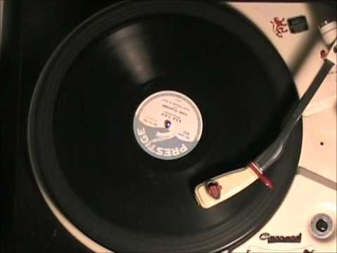 RED TOP by King Pleasure on 78 rpm Prestige DJ record