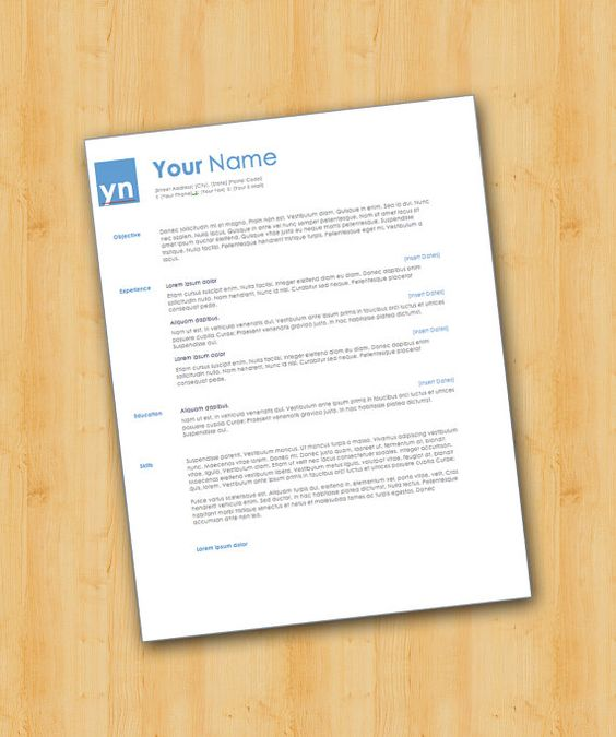 Professional Resume Template - Easy to Edit - Microsoft Word - entry level resume template
