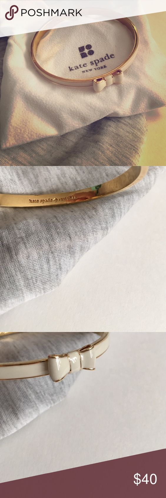 Kate Spade || Bow bangle New, cute girly bangle.  Wear it alone or create your own style combining it with other arm candy.      Perfect for gift ideas  ❌NO trades ❌NO PayPal  Bundle to get discount Please use OFFER option kate spade Jewelry Bracelets