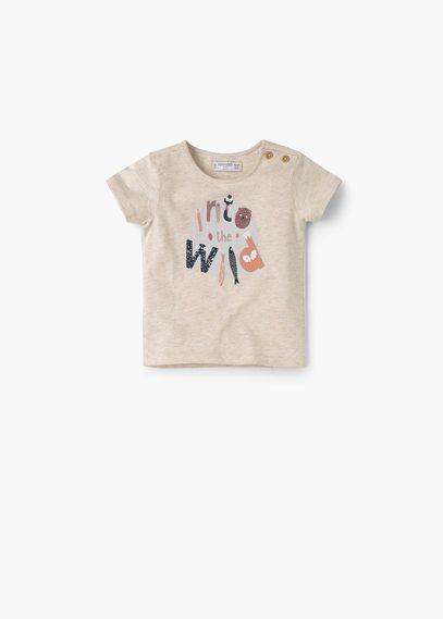 T-shirt algodão mensagem | MANGO KIDS