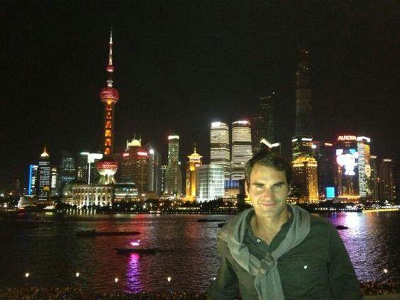 Federer a Shangai