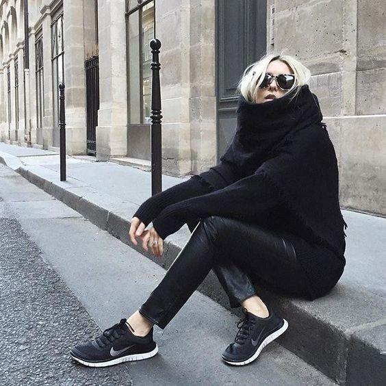 All black on @figtny in Paris. #MyAritzia | Aritzia: